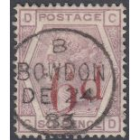 GREAT BRITAIN STAMPS 1883 6d on 6d Lilac,