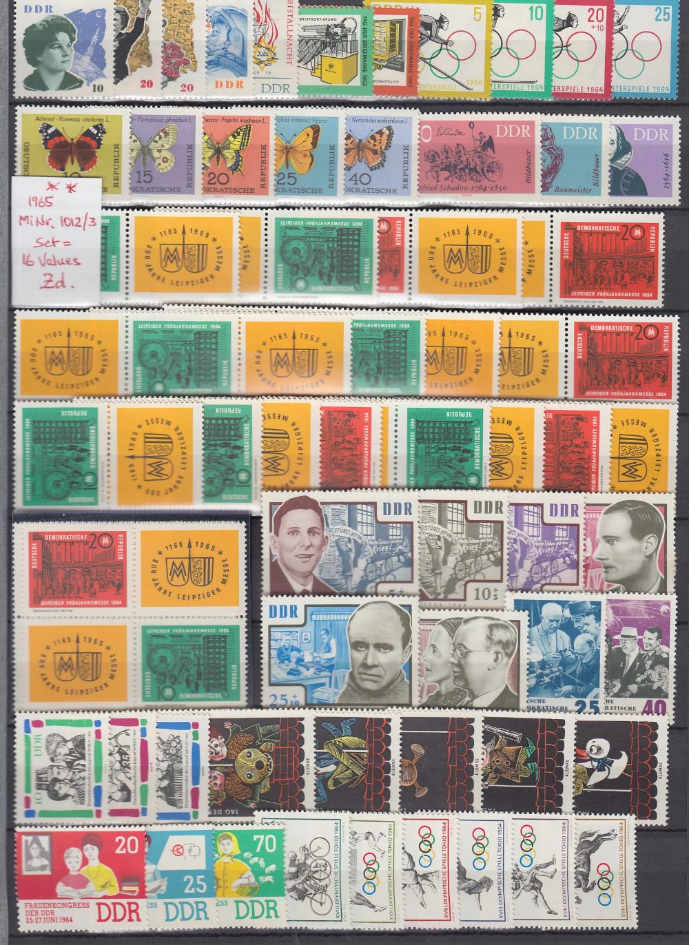 STAMPS GERMANY Large green stockbook 1949 - 1990 unmounted mint and fine used, including minisheets, - Image 3 of 3
