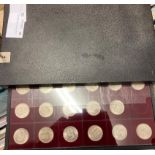COINS : Collectors cabinet of Silver Copper and Nickle coins, QV half crowns and shillings,