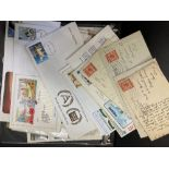STAMPS Box of approx 300 first day covers and event covers in albums and loose