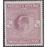 GREAT BRITAIN STAMPS 1902 2/6 Dull Purple (chalky),