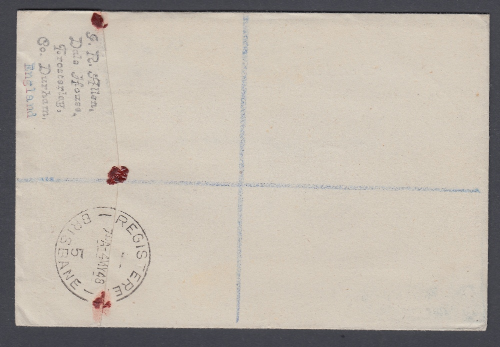 STAMPS FIRST DAY COVERS 1948 Silver Wedding set on Illustrated cover 26th April 1948, registered, - Image 2 of 2