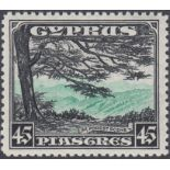 STAMPS CYPRUS 1934 45pi Green and Black,