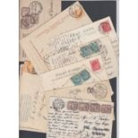 STAMPS POSTAL HISTORY EGYPT, a selection of fifteen mostly Edwardian period postcards,