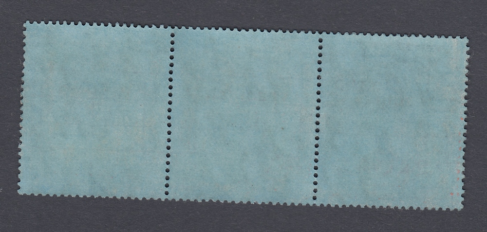STAMPS ASCENSION 1924 3/- Grey-Black and Black Blue, lightly mounted mint strip of 3, - Image 2 of 2