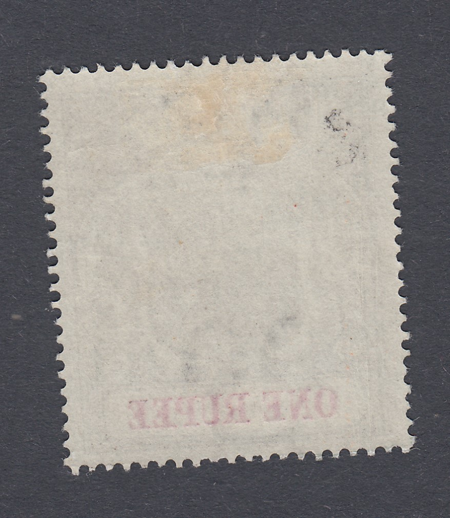 STAMPS MAURITIUS 1900 1r Grey Black and Carmine lightly mounted mint with INVERTED Wmk SG 153w - Image 2 of 2