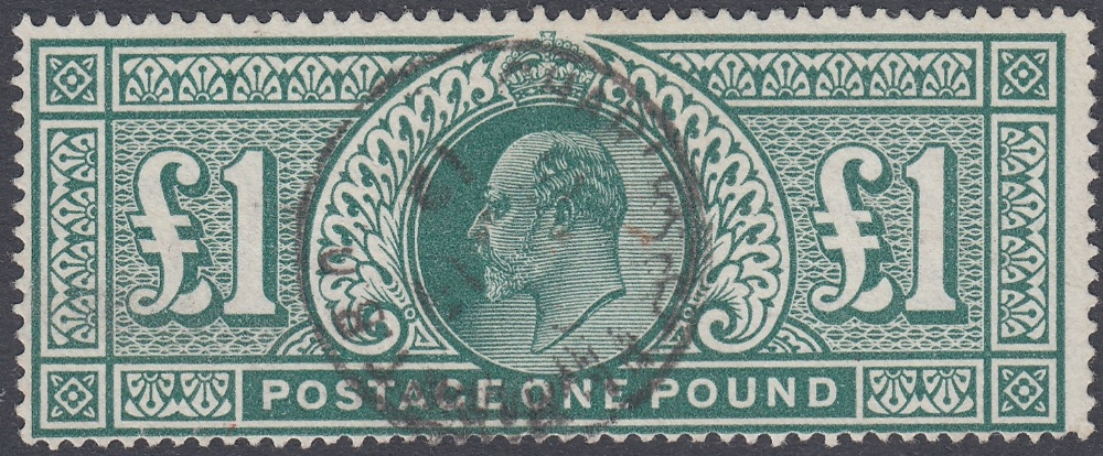 GREAT BRITAIN STAMPS 1911 Somerset £1 Deep Green,