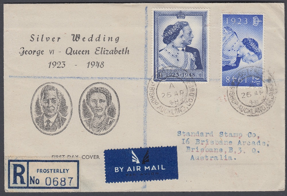 STAMPS FIRST DAY COVERS 1948 Silver Wedding set on Illustrated cover 26th April 1948, registered,