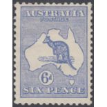 STAMPS AUSTRALIA 1913 6d Ultramarine,
