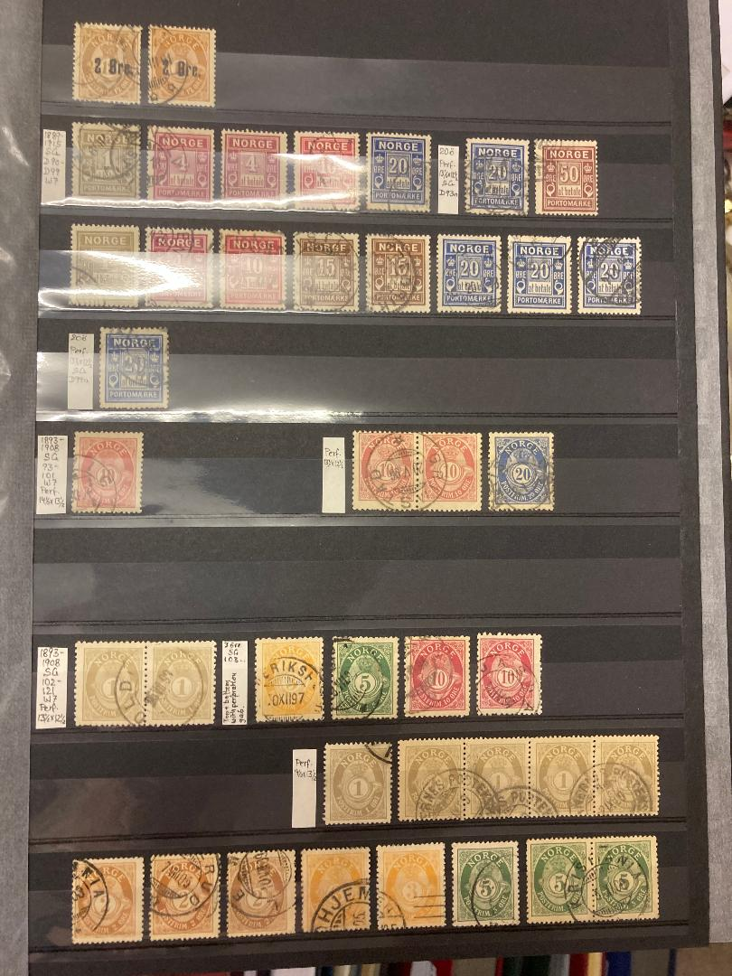 STAMPS NORWAY Stockbook with early to modern mint and used,