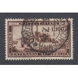 STAMPS ITALY 1949 Roman Republic 100L fine used SG 726