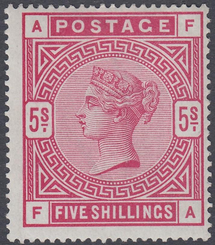 GREAT BRITAIN STAMPS : 1883 5/- Crimson,