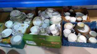 A selection of bone china part tea sets