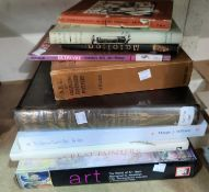 A selection of books on art etc