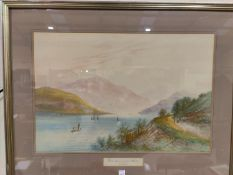 A Lewis: Loch Lomond from Tarbet, watercolour, signed indistinctly, 33 x 52 cm, framed and glazed
