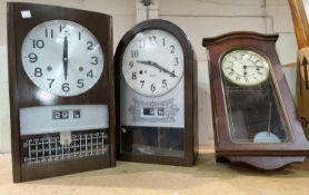Three reproduction wall clocks