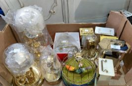 A selection of 400 day clocks; reproduction carriage clocks; etc.