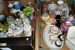 A selection of decorative and miniature china; etc.