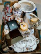 A selection of china; decorative items; pictures; etc.