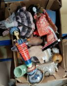 A selection of decorative items: costume dolls; etc.