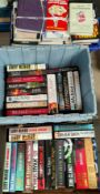 A large selection of modern mainly hard back thrillers, military fiction etc