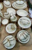 A Minton St James dinner and tea service with tureens etc approx 65 peices