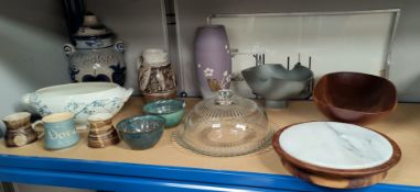 A selection of large Rumtopf kitchenware etc