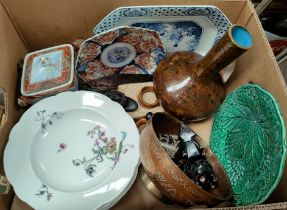 An imari scalloped plate, a Chinese cloisonne vase, other oriental and various ceramics etc.