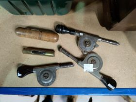 A selection of woodworking tools