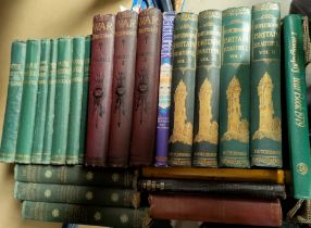 Charles Dickens, 20 v; other library volumes