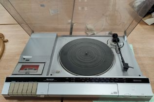 A Sharp Stereo Music centre SG-185 with record and tape deck
