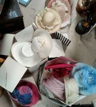 A collection of various John Lewis and other wedding hats