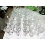 A selection of Edinburgh Crystal and other glasses: liqueurs; wines; tumblers; etc.