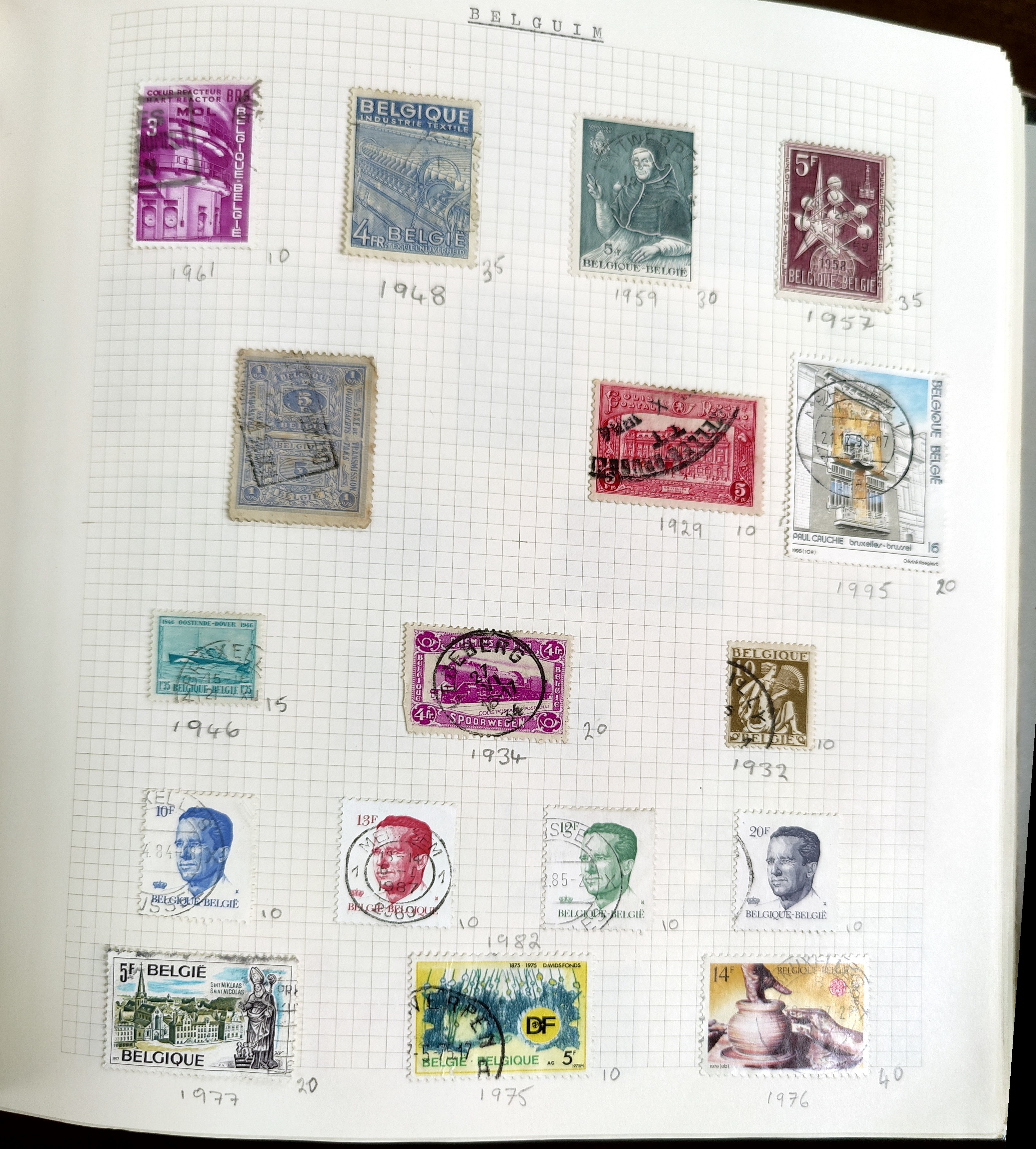 A very nicely presented world collection of stamps in 4 Stanley Gibbons Devon loose-leaf albums with - Image 8 of 23