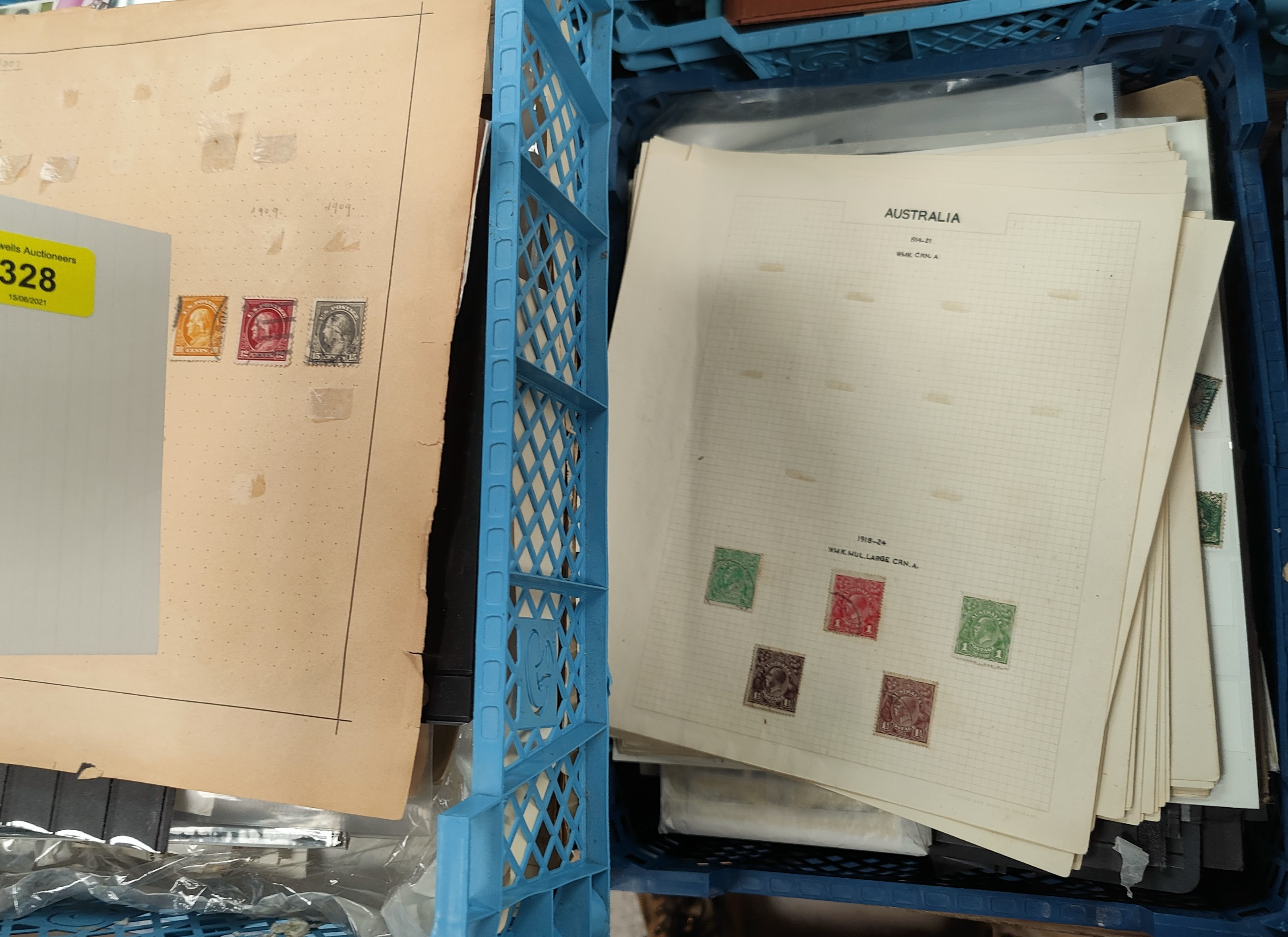 A quantity of stamps loose and on sheets