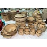 """A large quantity of dinner/teaware and a table lamp: Denby """"Memories"""""""