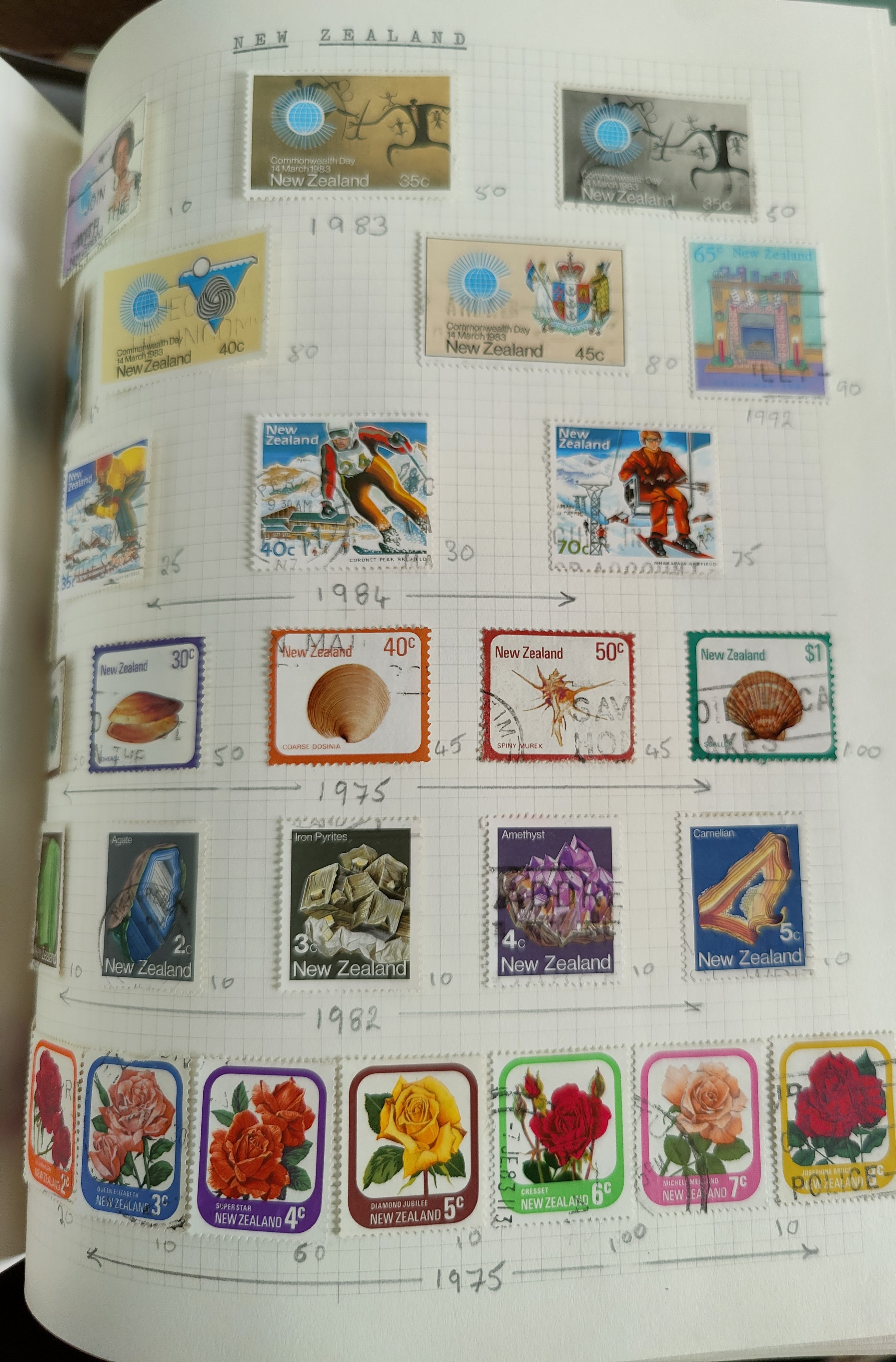A very nicely presented world collection of stamps in 4 Stanley Gibbons Devon loose-leaf albums with - Image 12 of 23