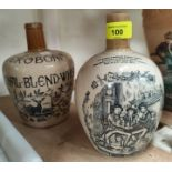 2 stoneware whisky advertising jugs, Auld Lang Syne and The Royal Blend Whisky 'JEROBOAM'