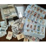 Ten assorted sets of Players, Ogden and other cigarette cards and Kensitas Silks cards