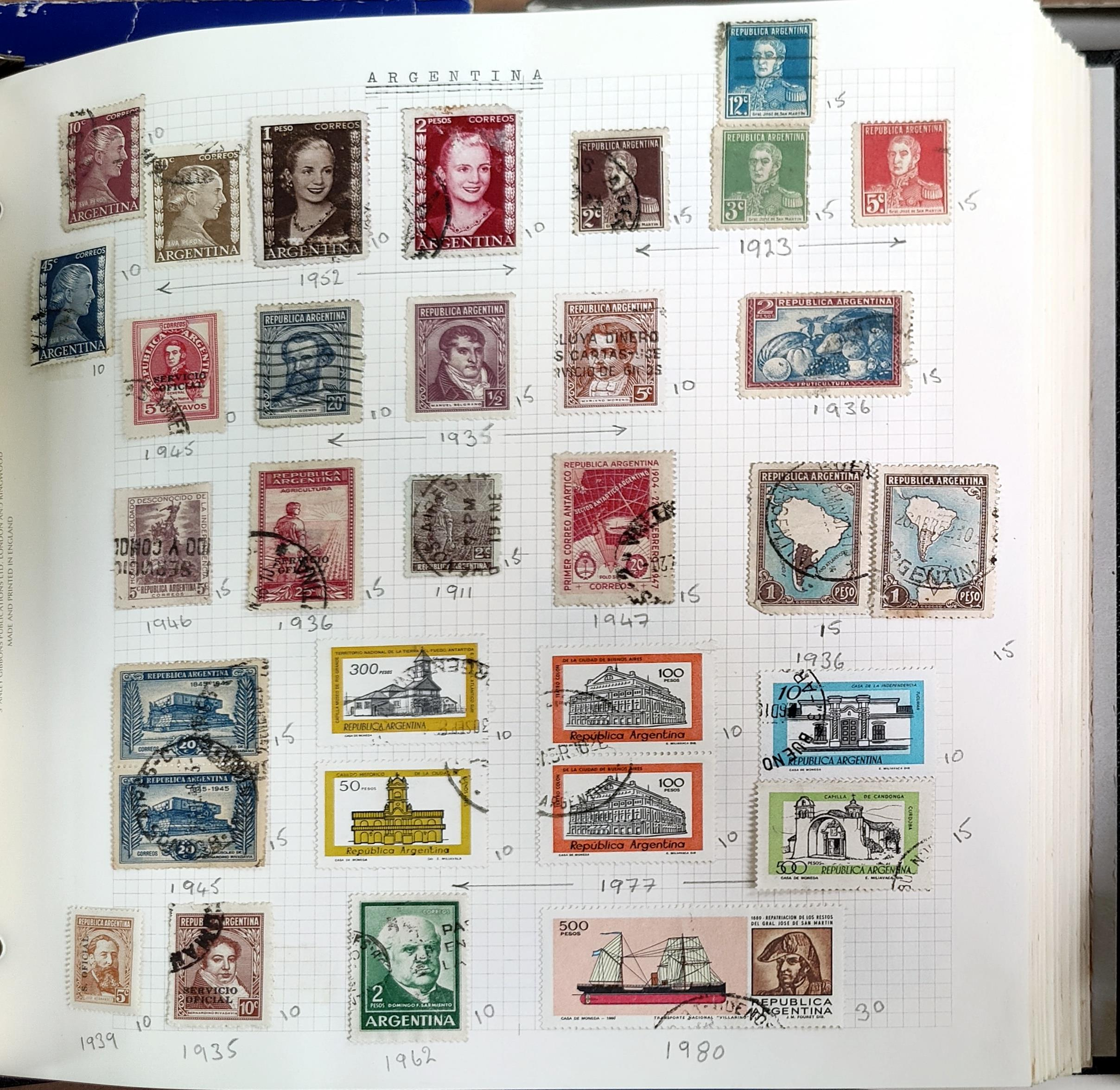 A very nicely presented world collection of stamps in 4 Stanley Gibbons Devon loose-leaf albums with