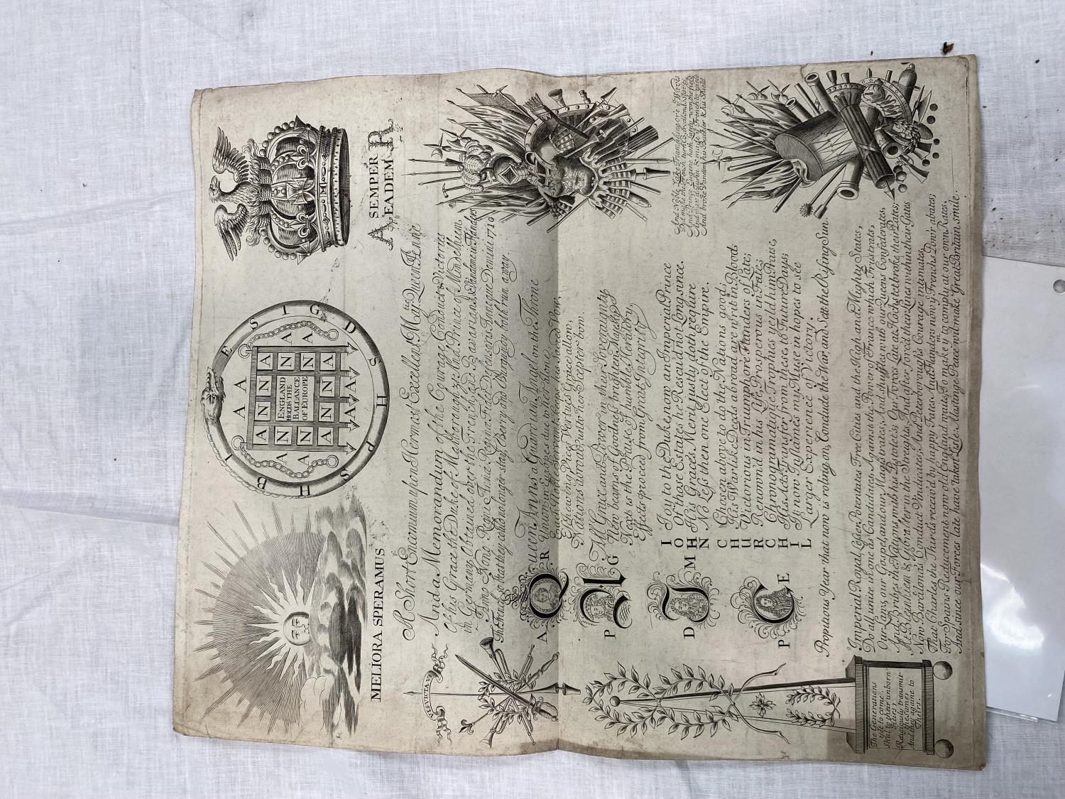Queen Anne 1710: A Short Encomium upon Her Most Excellent Majesty Queen Anne, with a further - Image 2 of 2