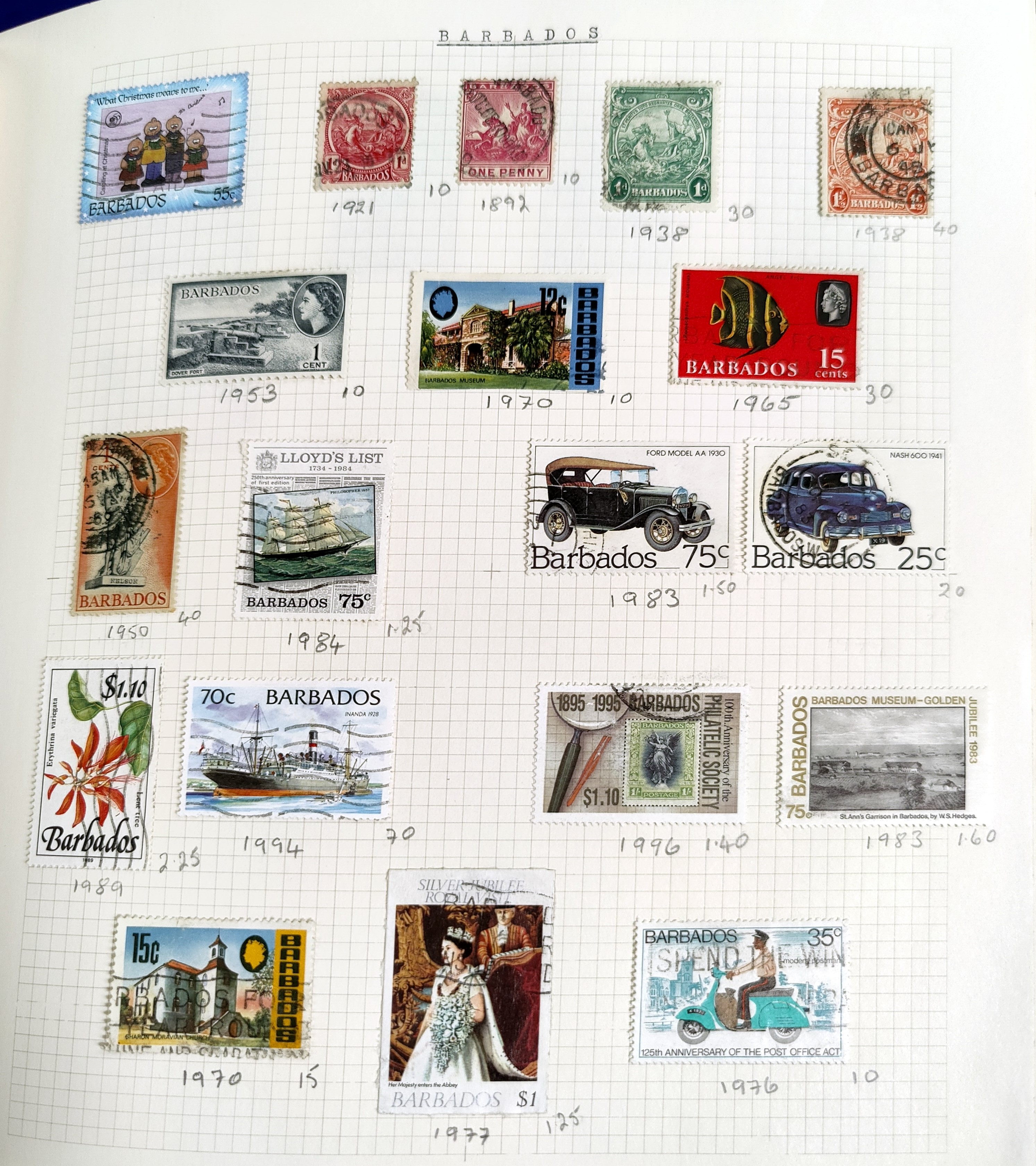 A very nicely presented world collection of stamps in 4 Stanley Gibbons Devon loose-leaf albums with - Image 5 of 23