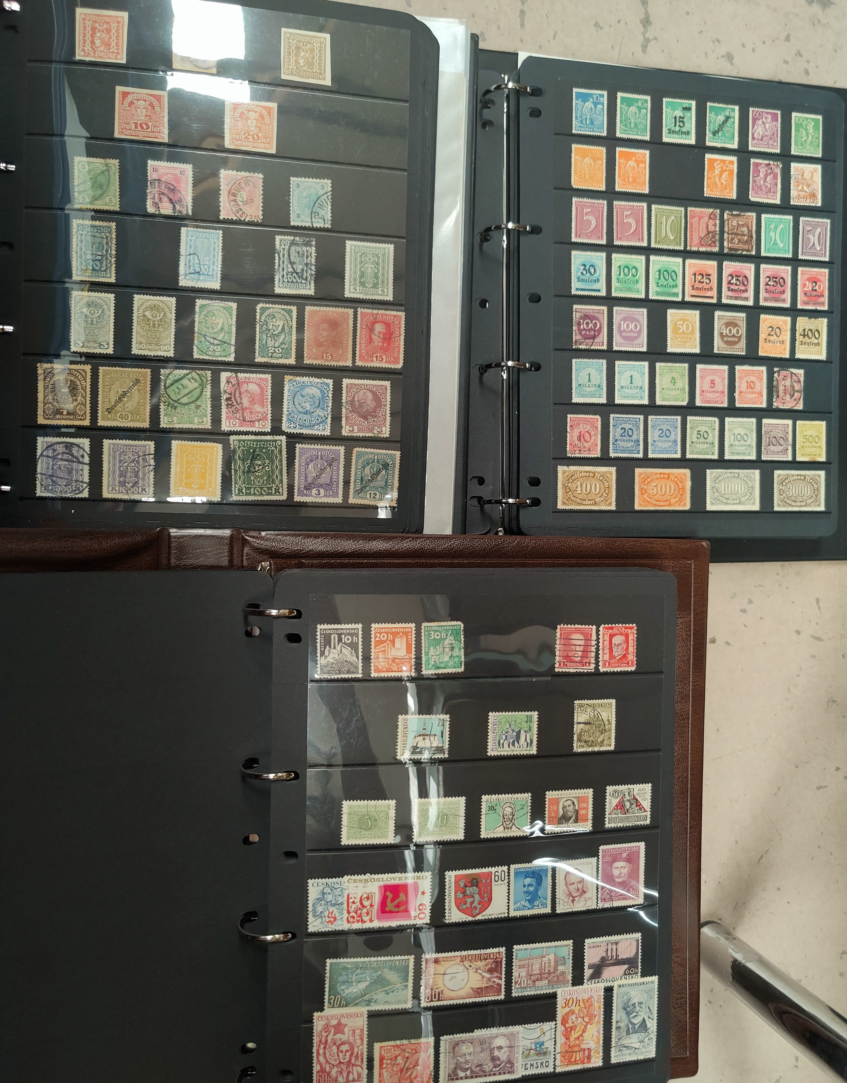 An album of stamps to include GERMANY (some 3rd Reich) and two albums, Austria, France Italy and
