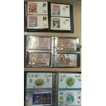 Three BENHAM albums with a collection of pictorial commemorative covers.