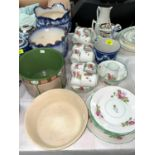 A Wedgwood jasperware small planter; various others; a 1920's bone china tea service