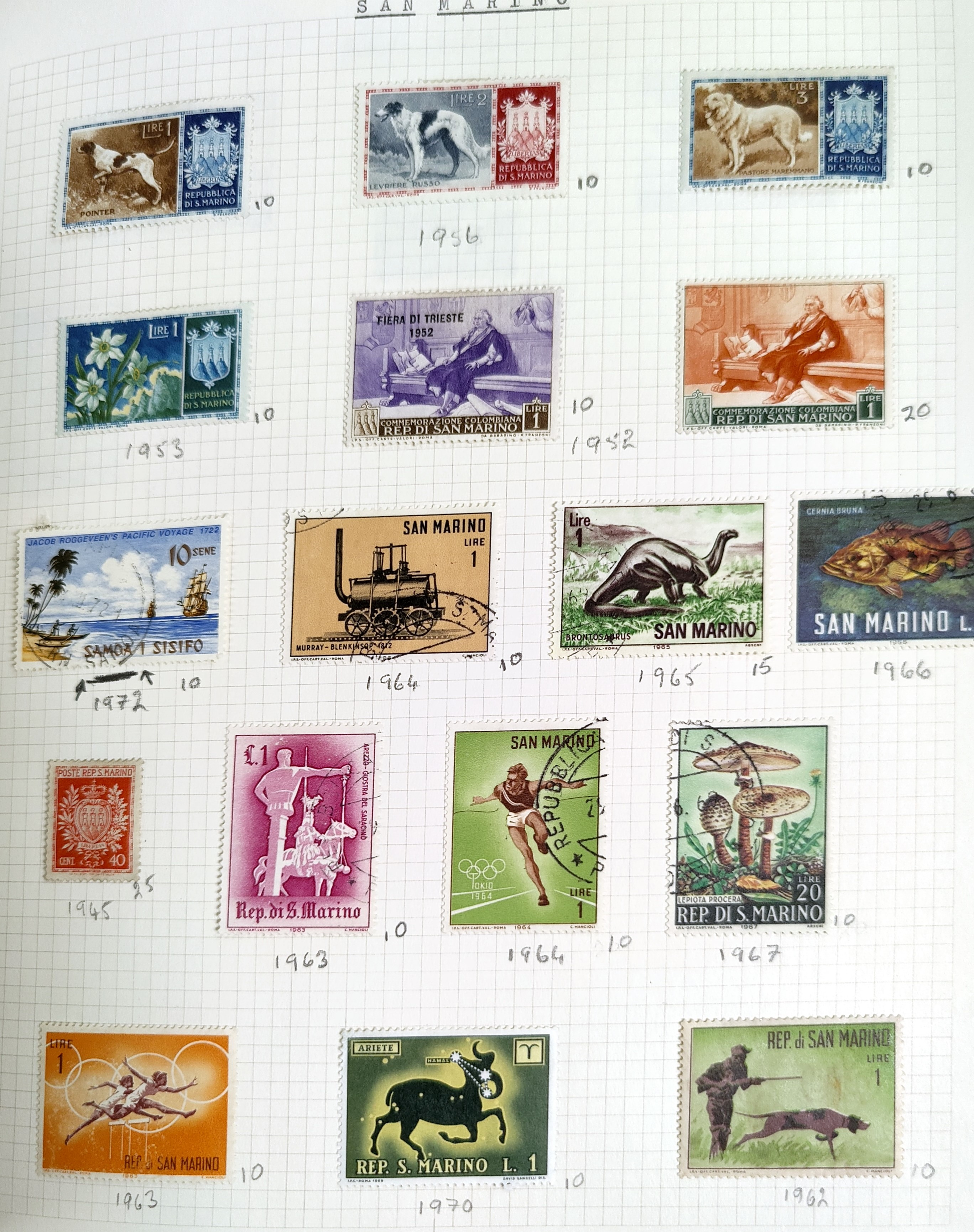A very nicely presented world collection of stamps in 4 Stanley Gibbons Devon loose-leaf albums with - Image 19 of 23