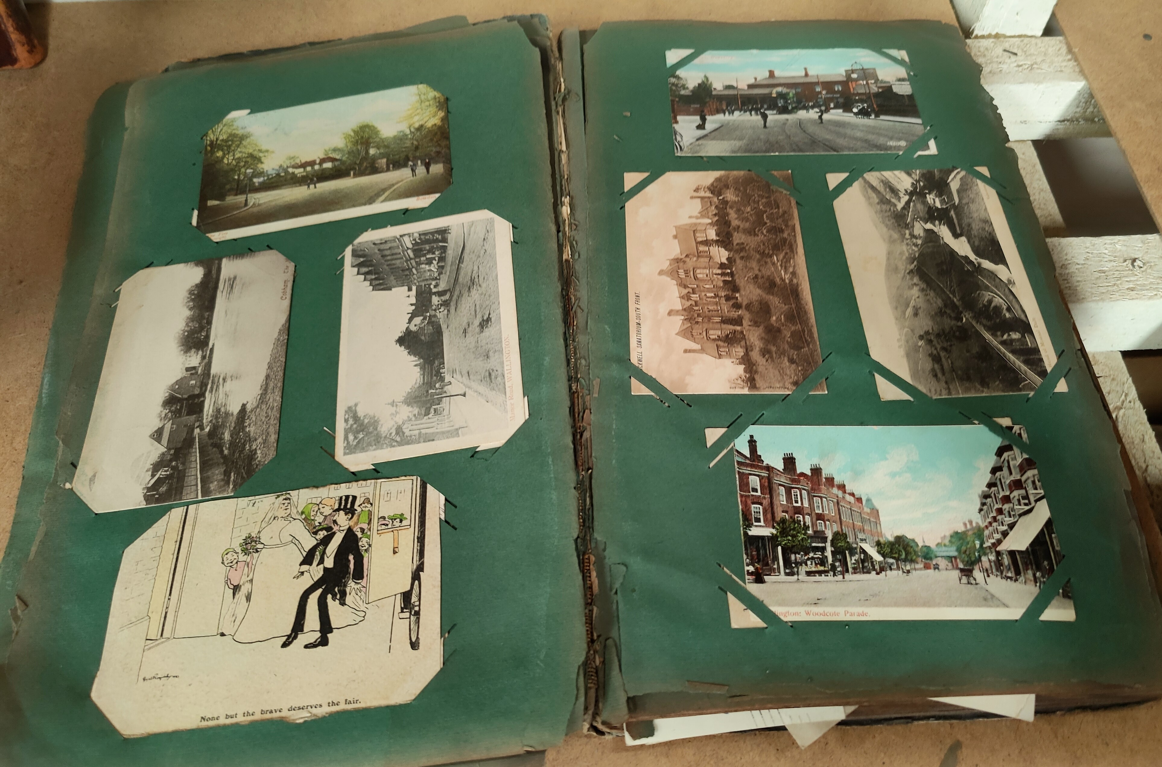 An Edwardian postcard album containing 140+ cards - Image 3 of 5