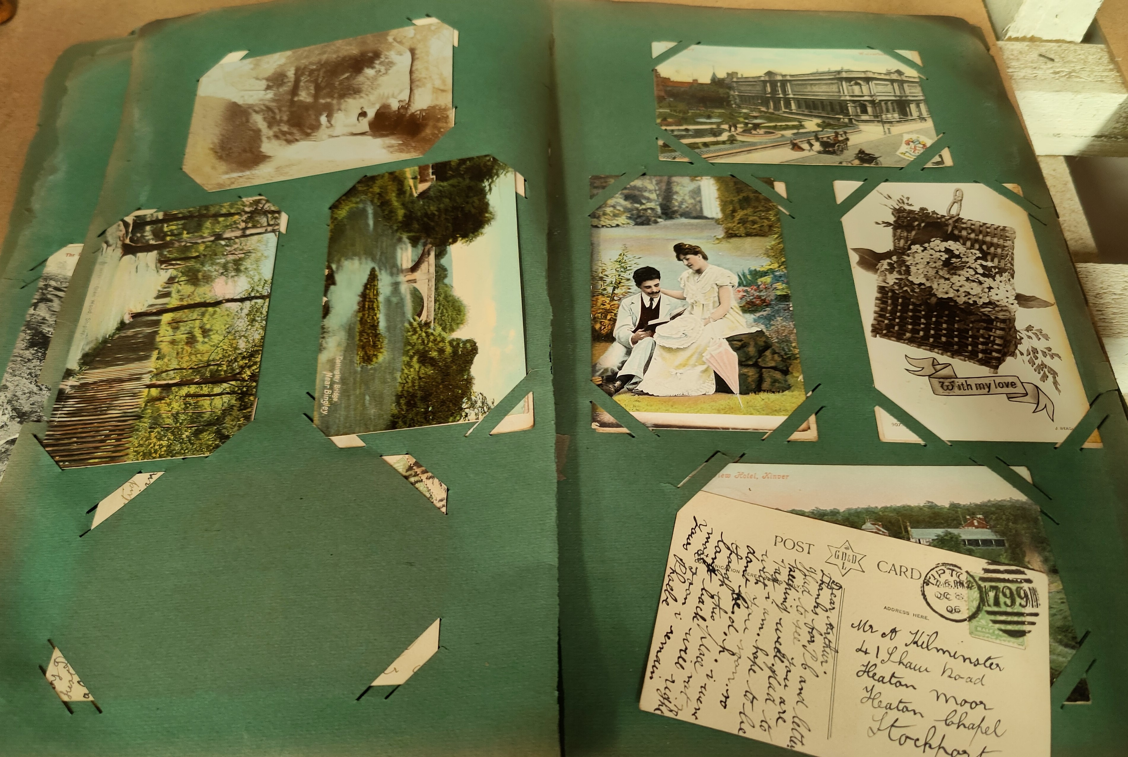 An Edwardian postcard album containing 140+ cards - Image 4 of 5