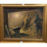 "Herman Bezokladnikov - ""Black Gold"" oil on canvass in the Soviet Socialist School circa 1952, oil on"