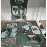 An Edwardian postcard album containing 140+ cards